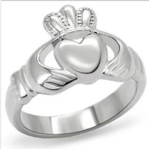 Celtic Irish Claddagh Ring Size 5 6 7 8 9 10 Steel